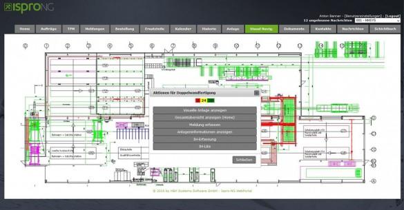 isproNG Webportal - Visuelle Anlage